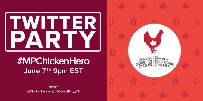 Support your local food bank and win fabulous prizes in the Chicken Farmers of Canada's MP Sandwich Tweet contest!