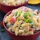Grilled Butter Chicken Pasta Salad