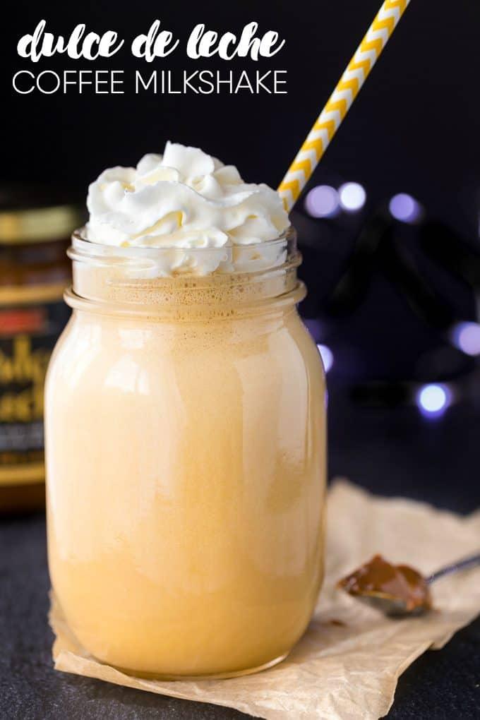 Dulce de Leche Coffee Milkshake - Simply Stacie