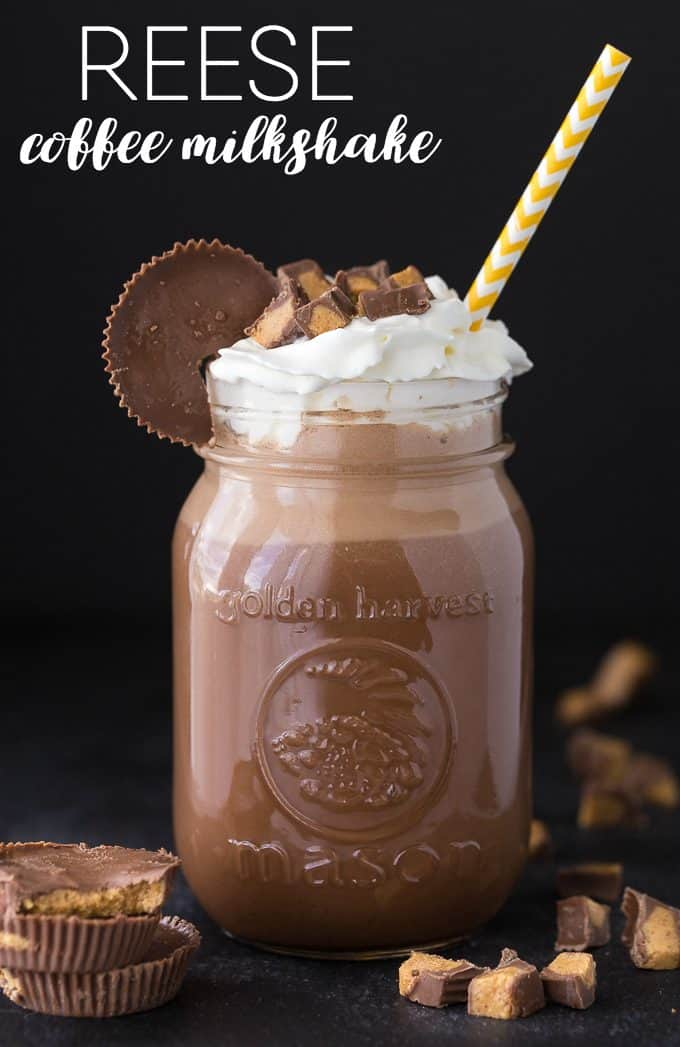 Reese Coffee Milkshake - A perfectly cold and sweet combination of ice cream, coffee, chocolate and peanut butter.