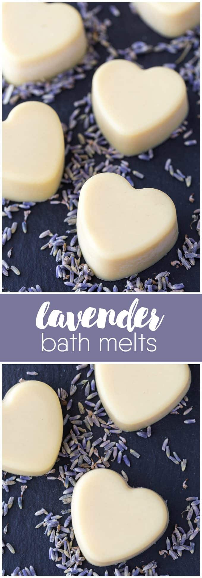 Lavender Bath Melts - Relax in a bath with the soothing scent of lavender! This easy DIY beauty recipe is only three ingredients and makes a wonderful gift.