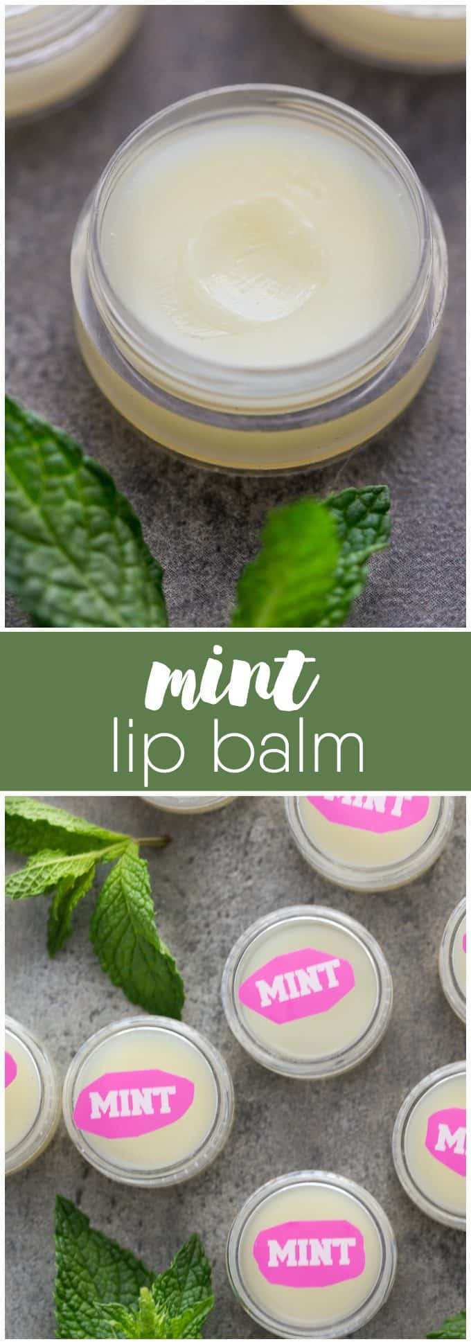 Mint Lip Balm - Your lips will feel soft and minty fresh with this easy DIY beauty recipe!
