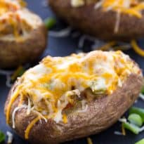 Twice Baked Pepper Stuffed Potatoes