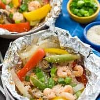 Grilled Sesame Shrimp & Veggies