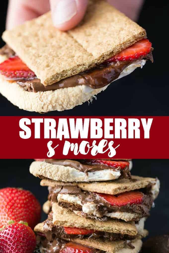 Strawberry S'mores - Ridiculously easy and delicious! Add some sliced strawberries to your next batch of s'mores for an extra burst of sweetness.