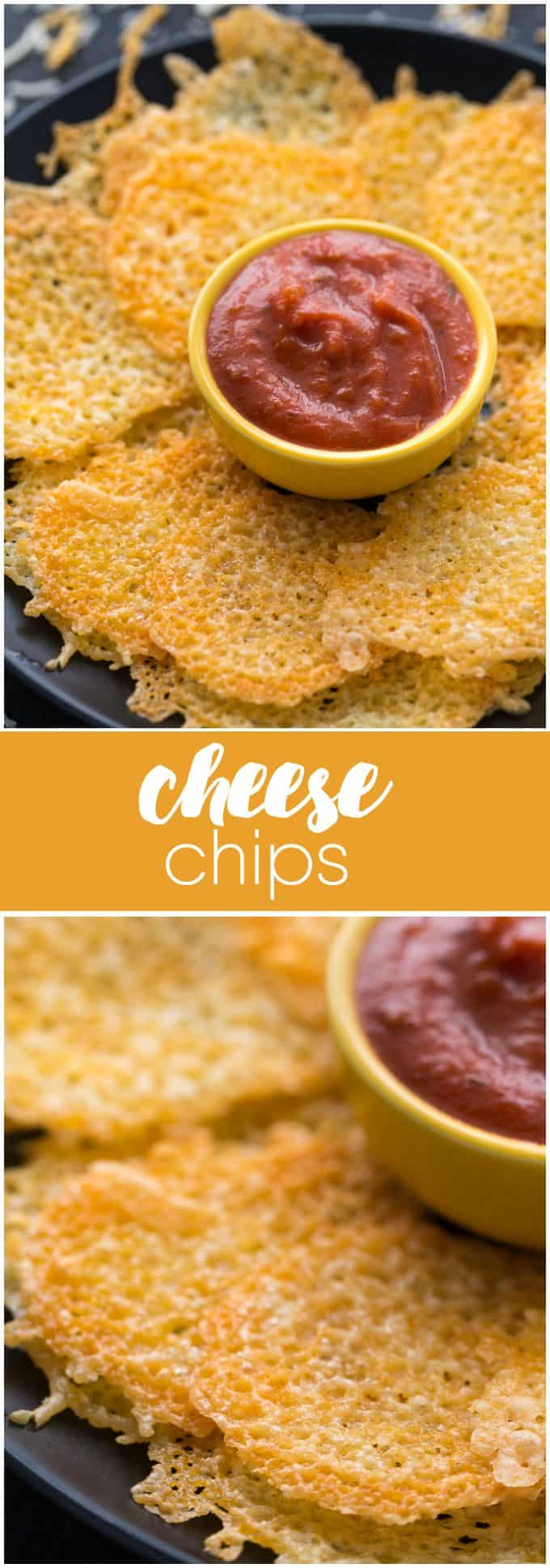 Cheese Chips - Delicious and so darn easy to make! This yummy appetizer is perfect for people following a low carb lifestyle.