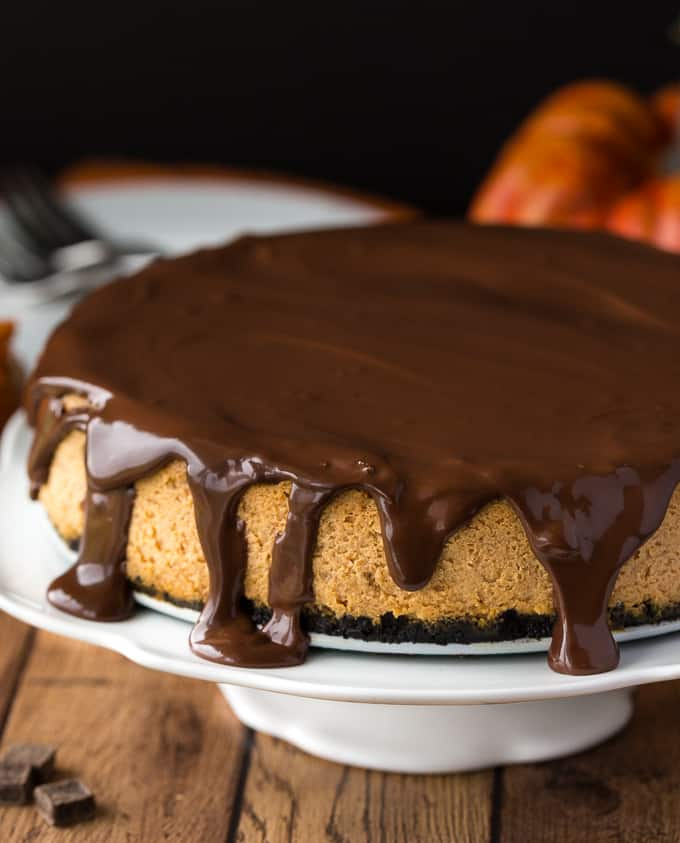 Chocolate Pumpkin Cheesecake - Simply Stacie