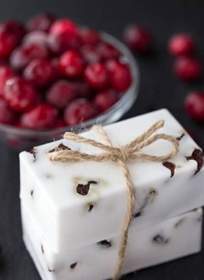 Cranberry Vanilla Shea Butter Soap