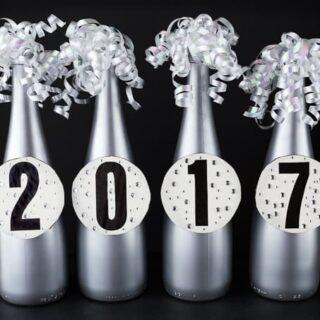 DIY New Year's Eve Bottle Centerpiece