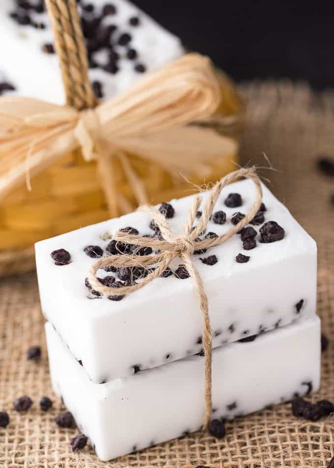 Wild Blueberry Vanilla Shea Butter Soap - Wild blueberries add a beautiful pop of colour to this sweet smelling soap!