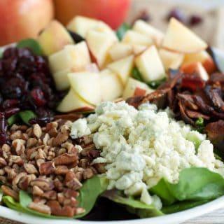 Fall Salad with Warm Bacon Vinaigrette