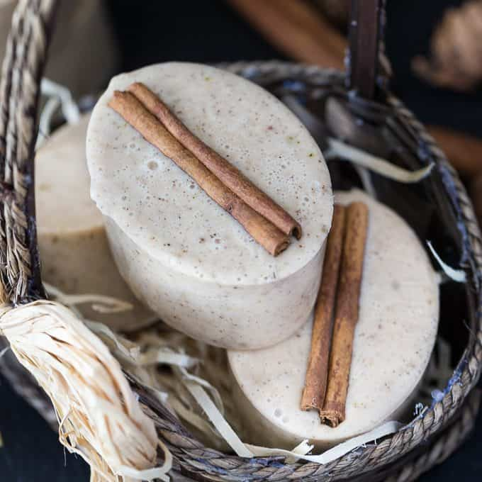 Apple Cinnamon Goat's Milk Soap - This beautiful soap smells like fall! It gives a rich lather and also makes a lovely DIY for someone special.