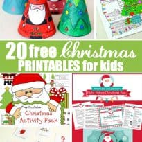 20 Free Christmas Printables for Kids