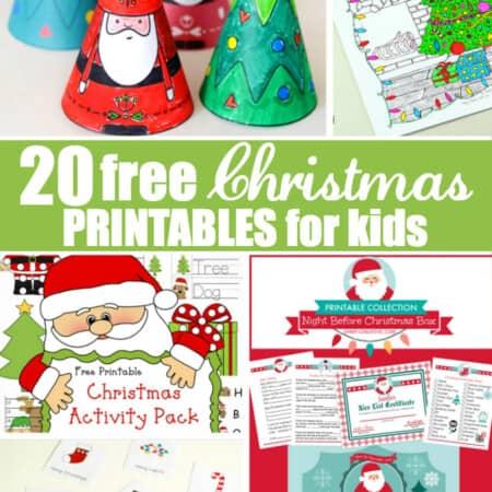 20 Free Christmas Printables for Kids