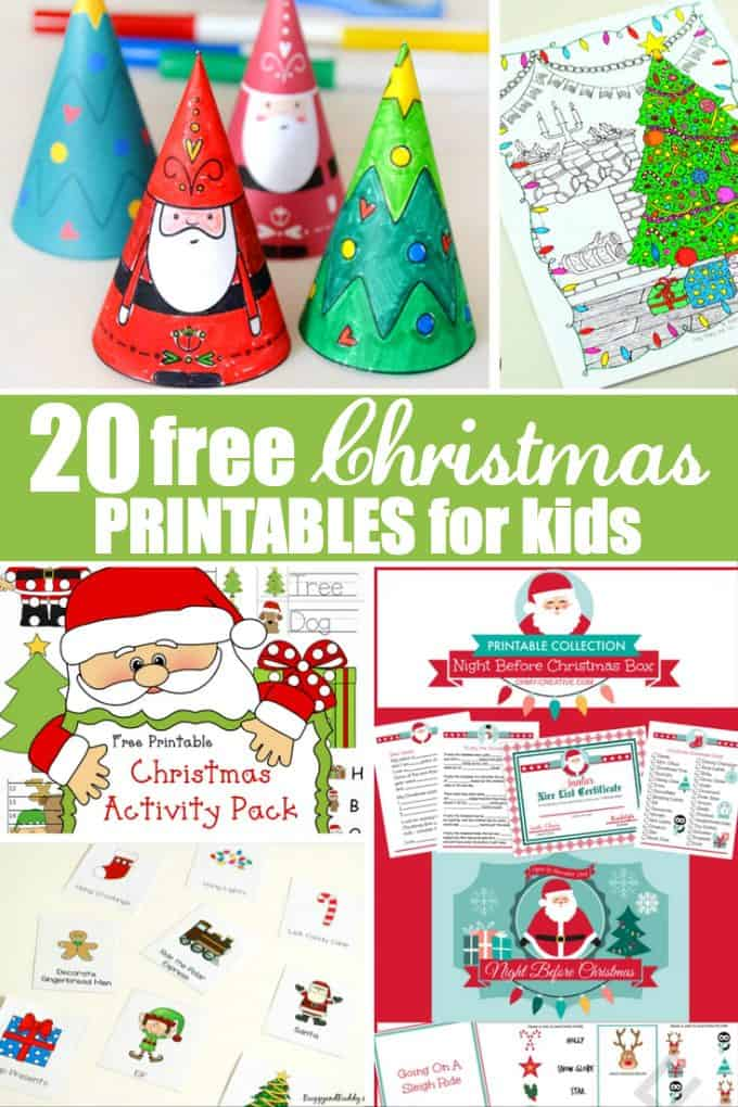 20 Free Christmas Printables for Kids - Get kids into the spirit of the season with these fun games, decorations, colouring pages and more!