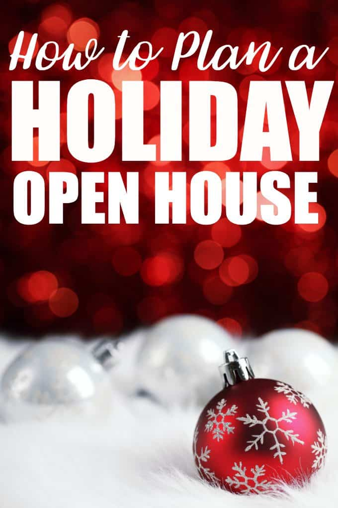 How to Plan a Holiday Open House - A step-by-step guide on how to plan a holiday open house this Christmas season with a free planning printable checklist to keep you organized.