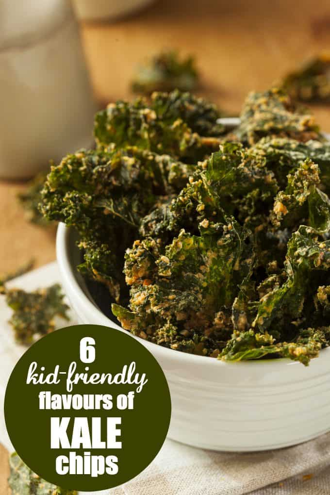 6 Kid-Friendly Flavours of Kale Chips - Kids love them and they are easy to make too!