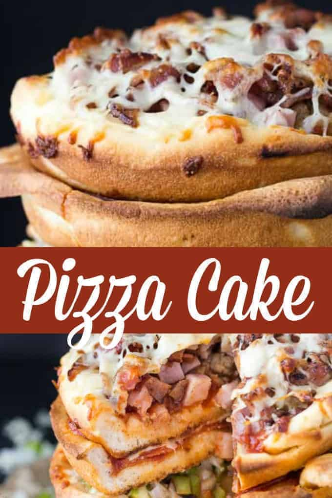 Pizza Cake - This five layer cake is a real showstopper and pizza lover's dream! Surprisingly, it's not that hard to make with the right tools.