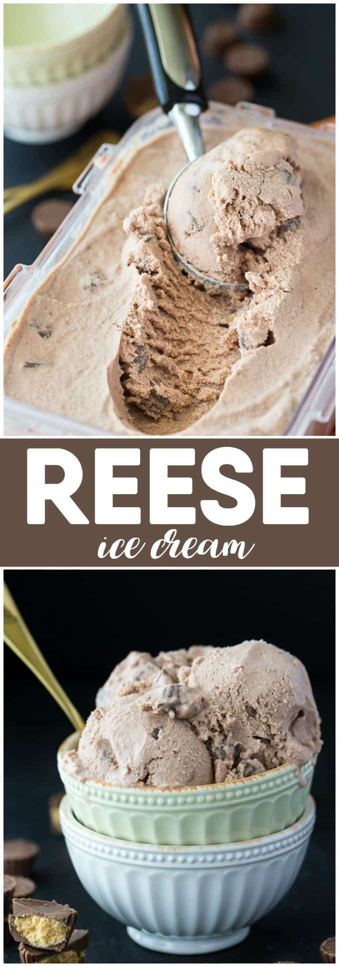 REESE Ice Cream - Creamy, smooth and packed full of yummy REESE flavour that we all know and love.