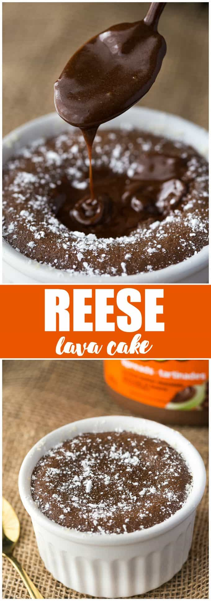 Reese Lava Cake - If you love sinfully rich chocolate with a hint of peanut butter, this recipe is for you!