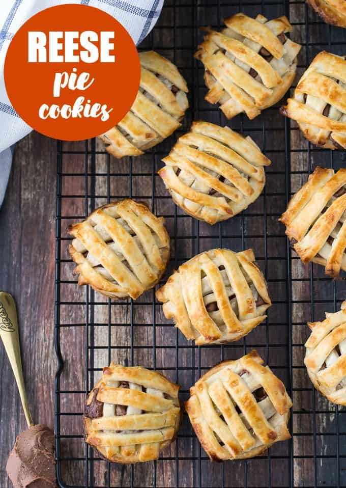 Reese Pie Cookies - Is it a cookie or pie? You decide. Either way, this is one deliciously simple dessert made with refrigerated pie dough and Reese spread.