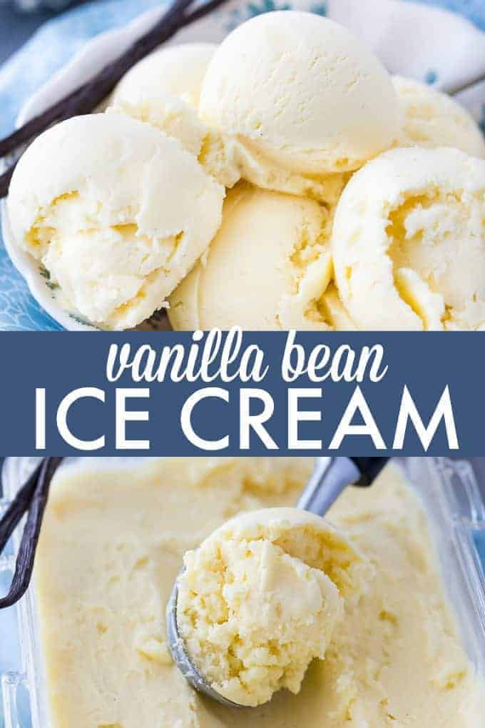 Vanilla Bean Ice Cream - So creamy and pure, one bite and you'll be in ice cream heaven. Made with real vanilla beans!