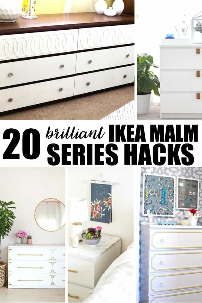 20 Brilliant IKEA Malm Series Hacks - Turn a boring piece of furniture into something extraordinary with these tutorials!