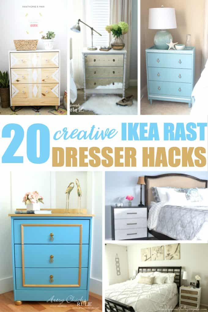 20 Creative IKEA RAST Dresser Hacks - Turn a plain pine dresser into something beautiful to match your decor.