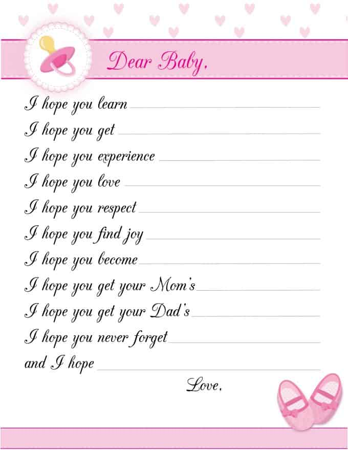 picture regarding Printable Baby Shower identified as 8 No cost Printable Little one Shower Online games for Women - Simply just Stacie