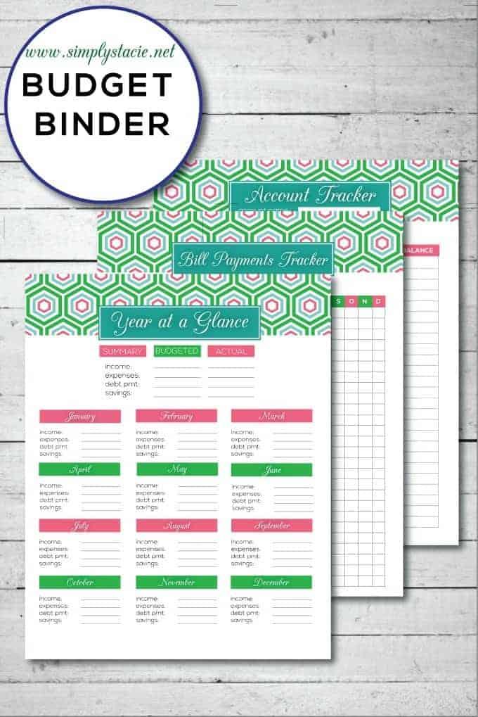 Epic image regarding free printable budget binder worksheets