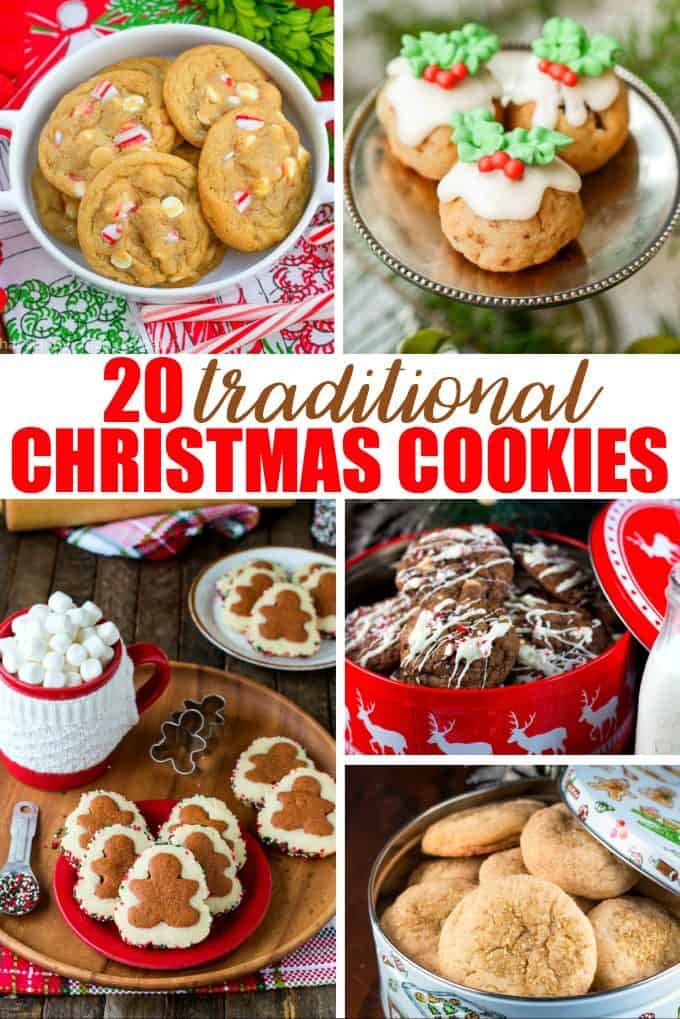 20 Traditional Christmas Cookies - Get your holiday bake-on with this mouthwatering list of sweet treats!
