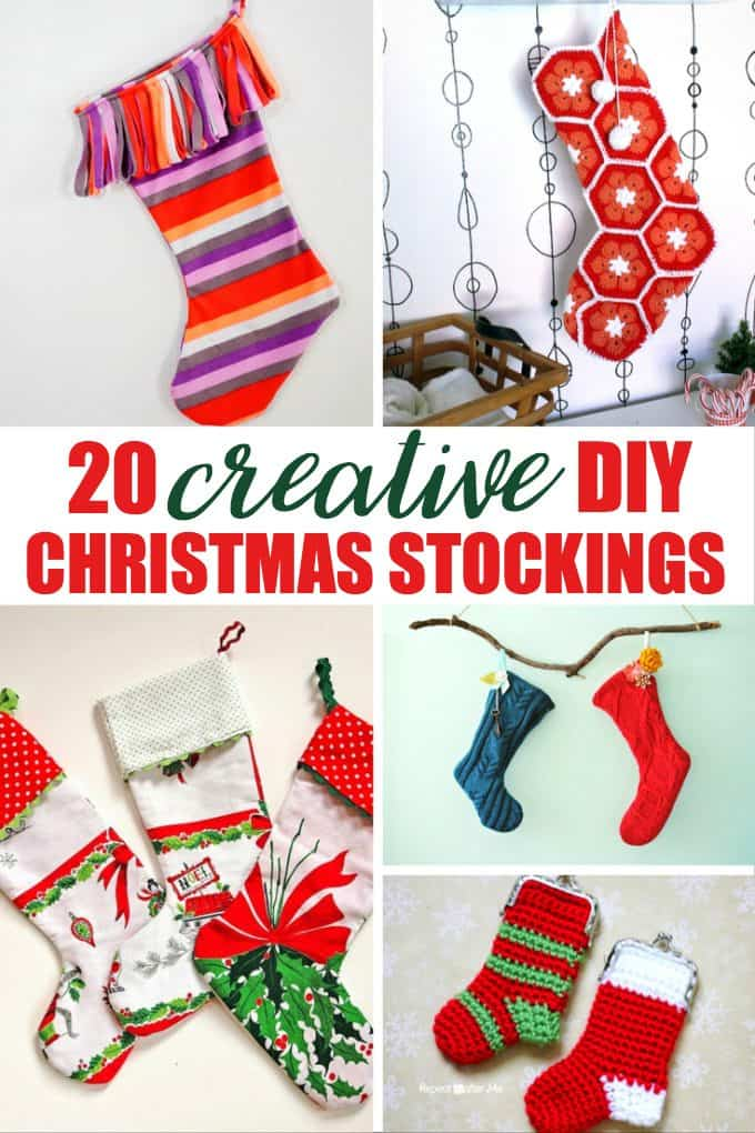 20 Creative DIY Christmas Stockings - Create something beautiful with these easy DIY tutorials!