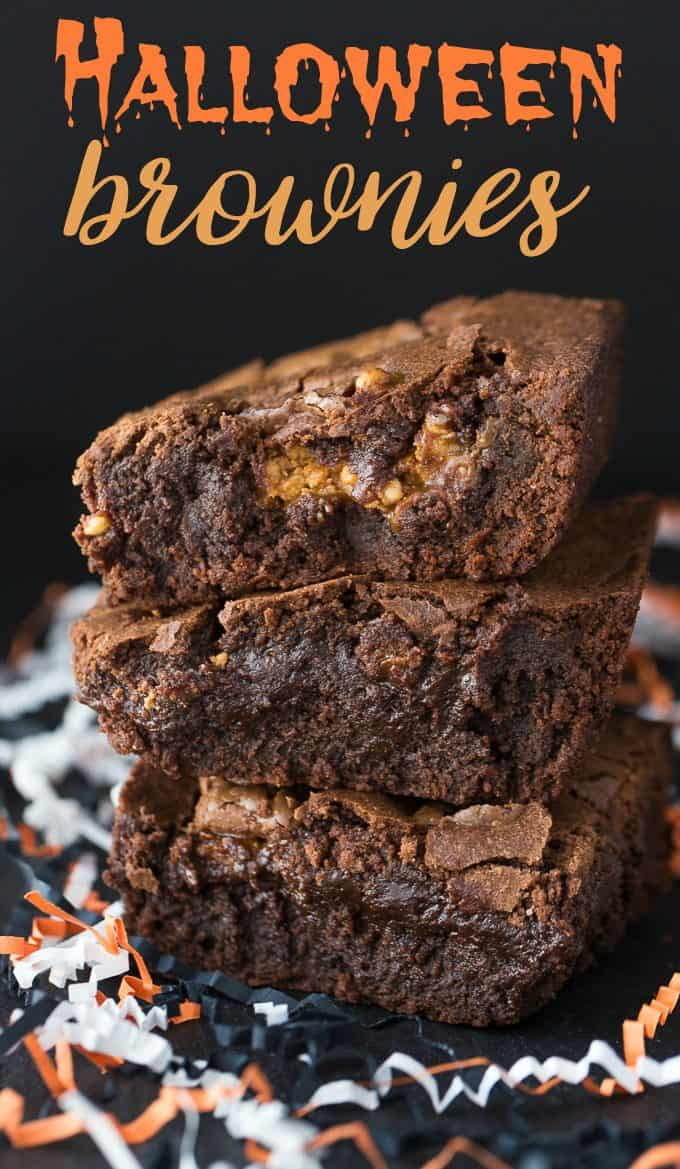 Halloween Brownies - Rich, fudgey and chewy. This is one of my favourite brownie recipes that I make over and over again for my family.