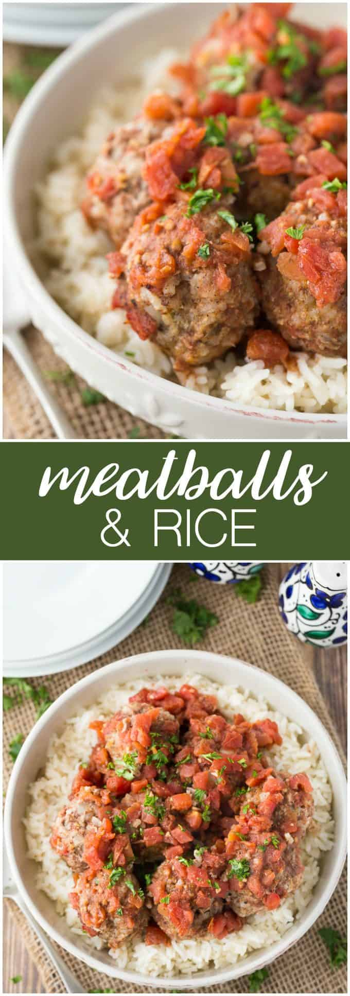 Meatballs & Rice - A simple twist to an Italian favourite that takes less than 30 minutes to make.