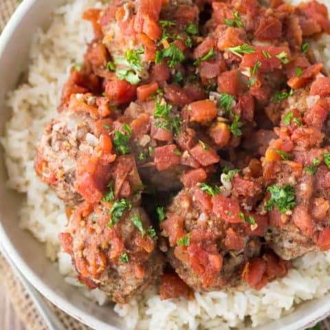 Meatballs & Rice