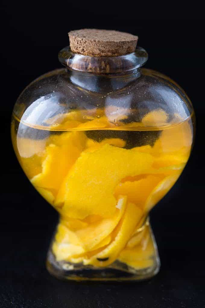 Homemade Orange Extract - Vodka + orange peels is all you'll need for this simple DIY extract!