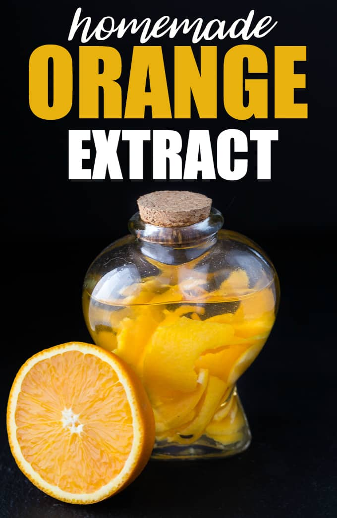 Orange Extract - Vodka + orange peels is all you'll need for this simple DIY extract!
