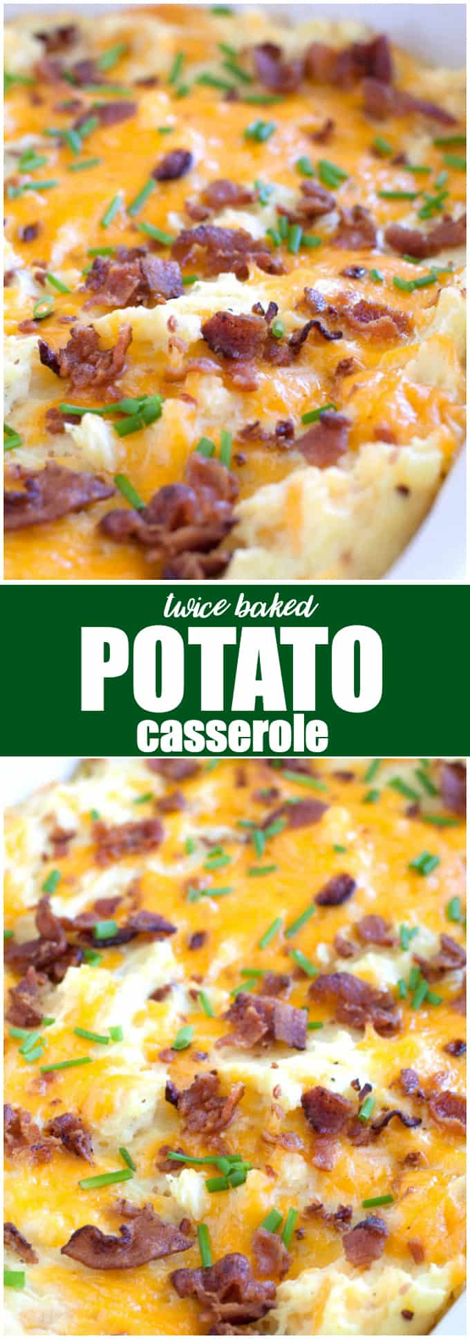 Twice Baked Potato Casserole - Far less labour intensive than traditional twice-baked potatoes, but with all the cheese, bacon and green onion flavours you love. This side dish pairs well with everything!