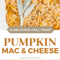 Pumpkin Macaroni & Cheese - Creamy, cheesy and absolutely delicious! If you haven't added pumpkin to your mac and cheese, you are missing out.