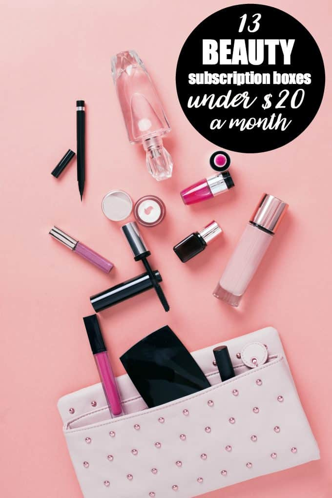 13 Beauty Subscription Boxes Under $20 a Month - Buy one for yourself or give away as a gift for someone special in your life!