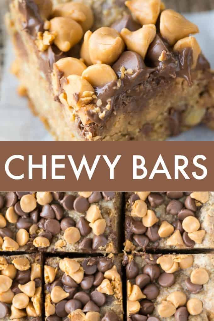 Chewy Bars - No eggs. No butter. No flour. This may be one of the easiest bar recipes you ever make.