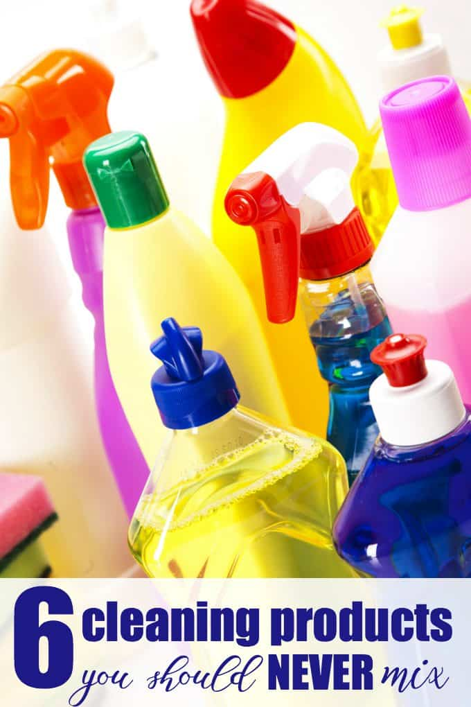 6 Cleaning Products You Should Never Mix - Some of these may surprise you. Stay safe and protect yourself and your family.