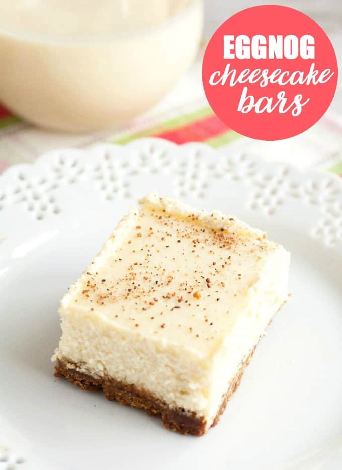 Eggnog Cheesecake Bars - Simply Stacie