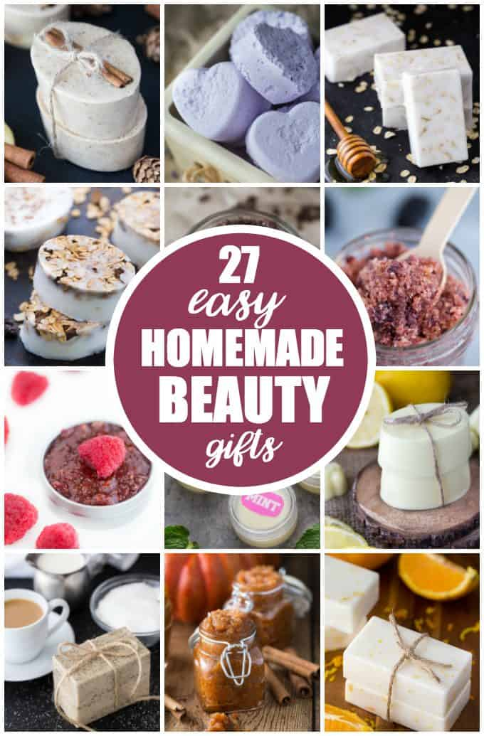 27 Easy Homemade Beauty Gifts - Who knew making your own beauty products could be this simple. Your friends and family will love these DIY gifts!