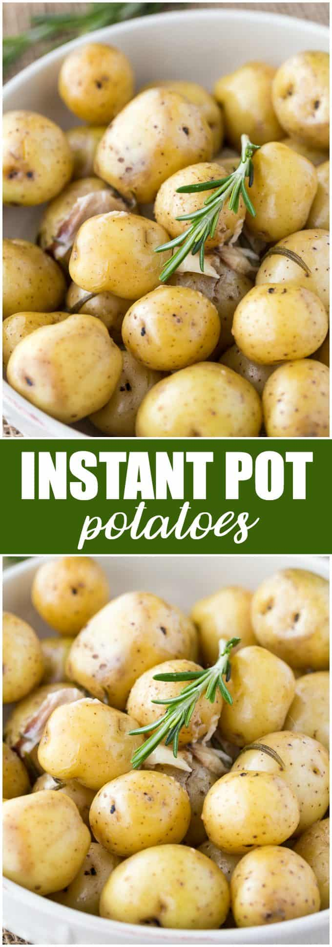 Instant Pot Potatoes - Perfectly tender and flavourful, you'll love how fast it is to make this delicious side dish with your Instant Pot!
