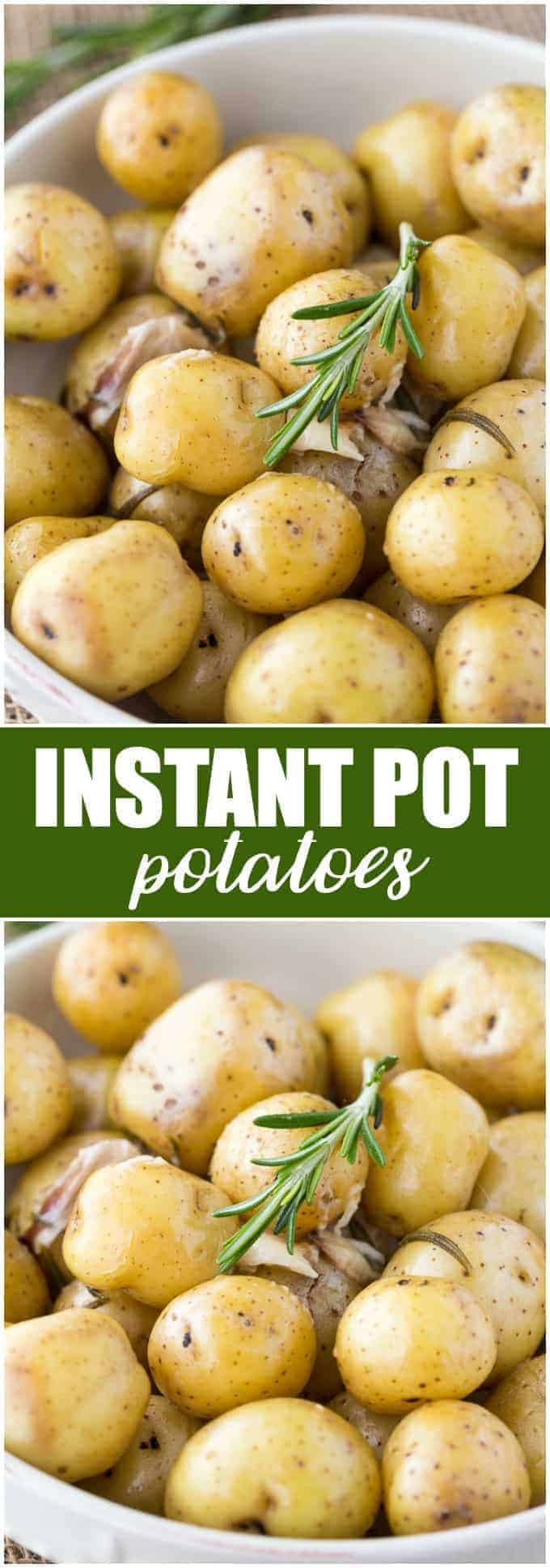 The Instant Pot is a modern pressure cooker that will cook your meals in a fraction of the time. Try my Instant Pot potatoes recipe for tender and buttery potatoes every time. #potato #smallpotatoes #instantpot #pressurecooker #sidedish #recipe
