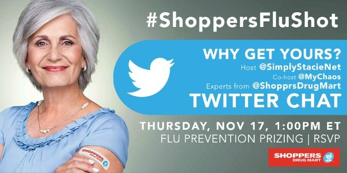 Join the #ShoppersFluShot Twitter Chat on November 17th