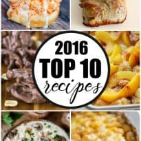 Top 10 Recipes of 2016 - Take a peek at the recipes that people visited the most in 2016!