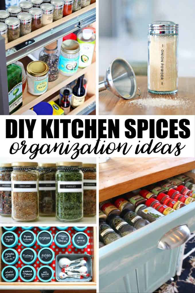 20 Creative DIY Kitchen Spices Organization Ideas Simply
