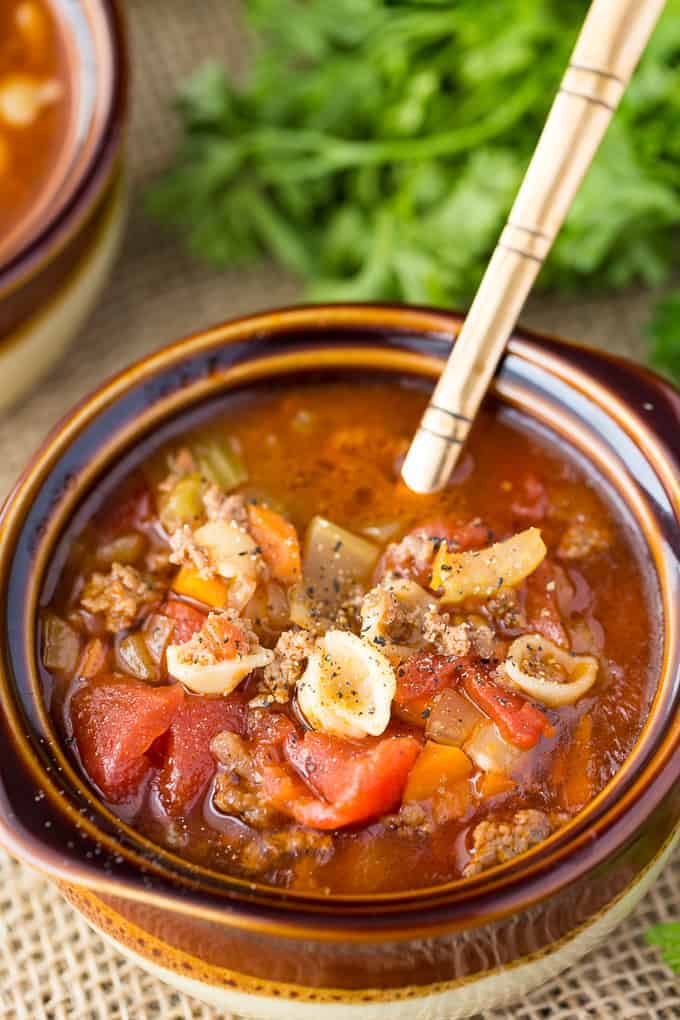 Hamburger Soup - My version of my grandma